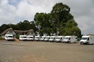 Nambia - 2011 - Hire vehicles ready for us